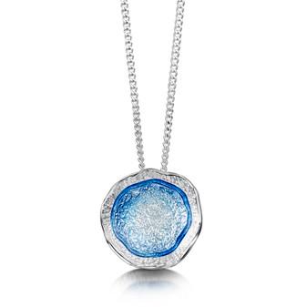 Sheila Fleet Lunar necklace with Lunar enamel