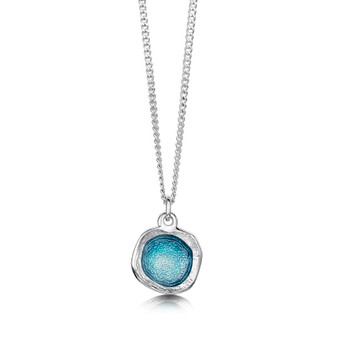 Sheila Fleet Lunar necklace with Lichen enamel