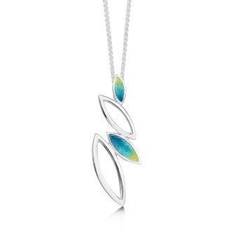Sheila Fleet Seasons necklace with Summer enamel