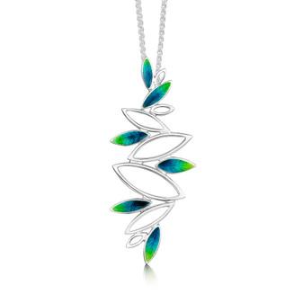 Sheila Fleet Seasons necklace with Spring enamel