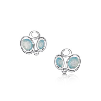 Sheila Fleet Artic Stream earrings with Arctic Blue enamel