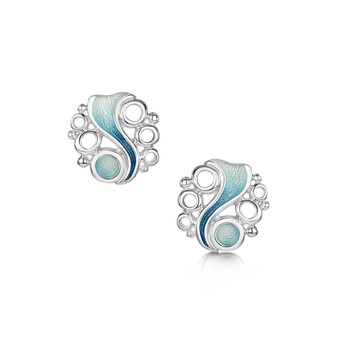 Sheila Fleet Arctic Stream stud earrings