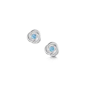 Sheila Fleet Reef Knot blue topaz studs