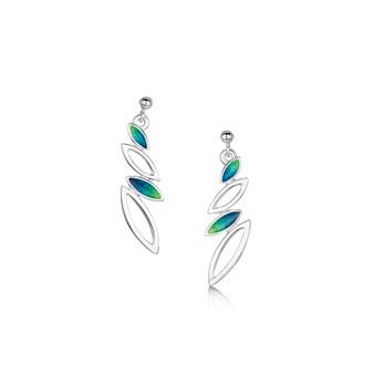 Sheila Fleet Seasons earrings with Spring enamel
