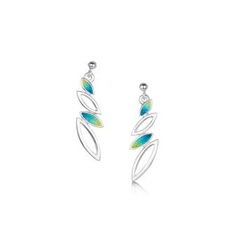 Sheila Fleet Seasons earrigs with Summer enamel