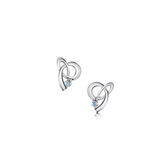 Sheila Fleet Tidal earrings with blue topaz