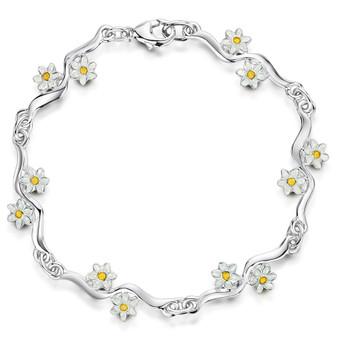 Sheila Fleet Daisies At Dawn bracelet