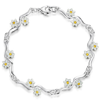 Sheila Fleet Daisies At Dawn bracelet