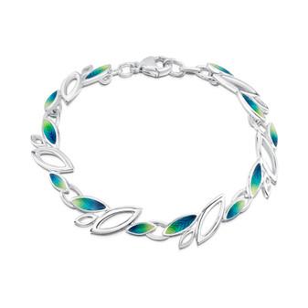 Sheila Fleet Seasons bracelet with Spring enamel