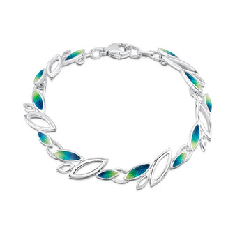 Sheila Fleet Seasons bracelet with Spring enamel