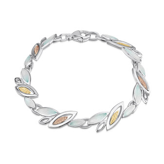 Sheila Fleet Seasons bracelet with Winter enamel