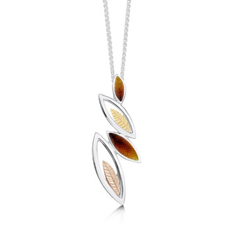 Sheila Fleet Seasons necklace with Autumn enamel