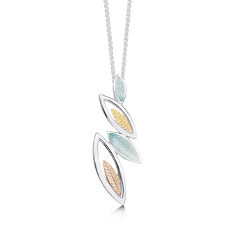 Sheila Fleet Seasons necklace with Winter enamel