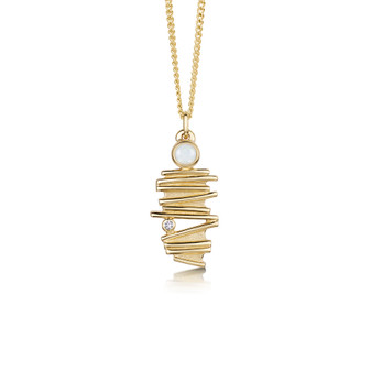 Sheila Fleet Moonlight Gold pendant