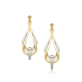 Sheila Fleet Reef Knot gold earrings