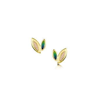 Sheila Fleet Seasons 18ct gold earrings