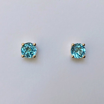 9ct gold topaz stud earrings