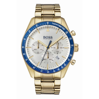 Gents' gold plated Hugo Boss chronograph watch on bracelet 1513631
