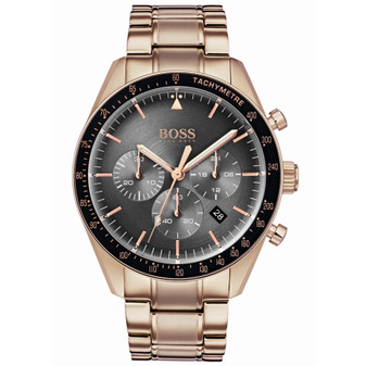 Gents' Boss quartz chronograph watch on bracelet 1513632