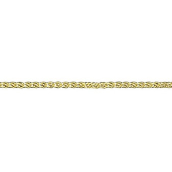 9ct yellow gold heavy woven chain