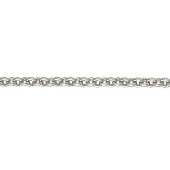 18ct white gold heavy belcher chain