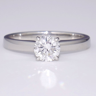 Platinum diamond solitaire ring GR5228