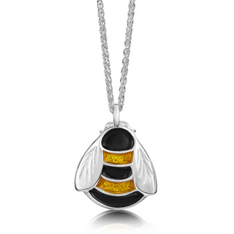 Sheila Fleet sterling silver Bumblebee pendant EPX273