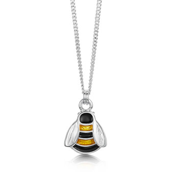 Sheila Fleet sterling silver Bumblebee pendant with Honey enamel EP273