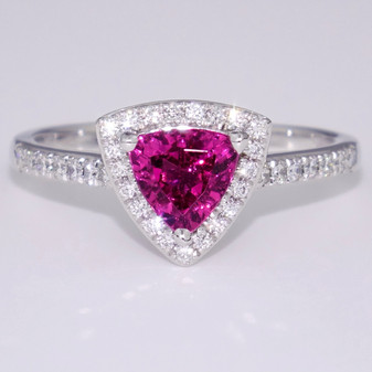18ct white gold tourmaline and diamond ring
