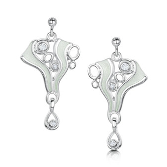 ESE268-OPLST Sheila Fleet Arctic Stream Earrings
