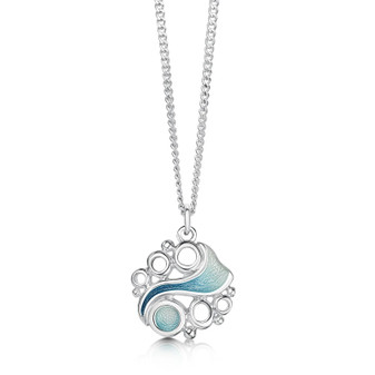 Sheila Fleet Arctic Stream sterling silver necklace EP0267
