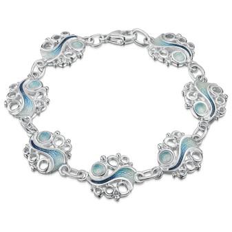 Sheila Fleet Arctic Stream sterling silver bracelet EBLX267