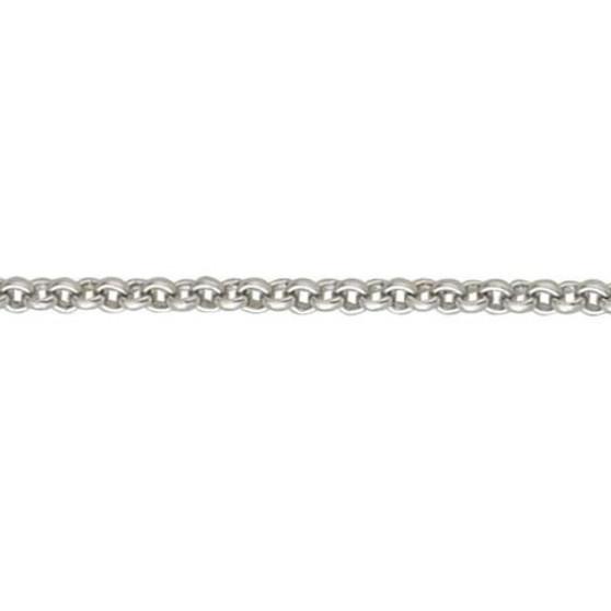 18ct white gold heavy belcher chain