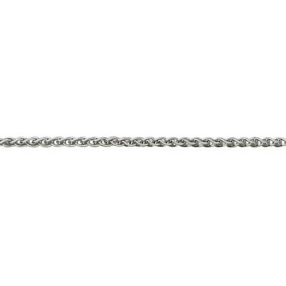 18ct white gold heavy woven chain