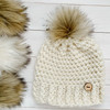 Coyote Faux Fur Pompom | Ties or Snaps
