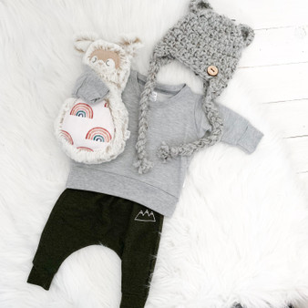 Bear Ear or Pompom Aviator Hat  | Newborn to Child | Made to Order