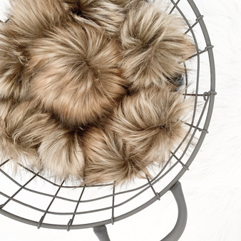 Lynx Faux Fur Pompom | Ties or Snaps