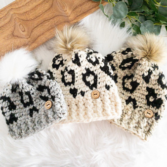 Leopard Hat | Newborn to Adult | Made to Order