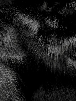 NEW Panther Faux Fur Pompom Fabric