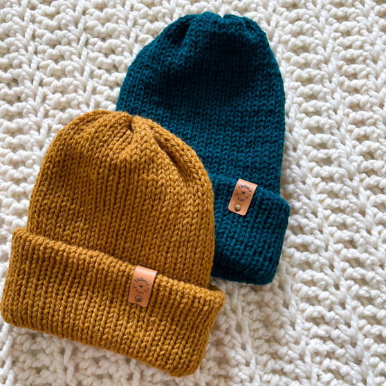 Cozy AF Double Knit Hat   Baby-Kid- Adult   Handmade