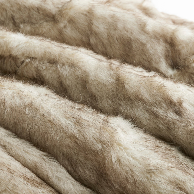Neutral Twin, Queen, or King Bedding Decor Made with Plush Faux Fur