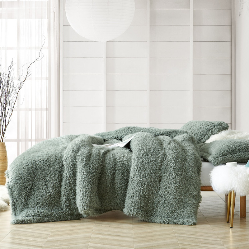 High Quality Twin, Queen, or King Bedding Coma Inducer Blanket Yo Dreads Iceberg Green Plush Comforter Set