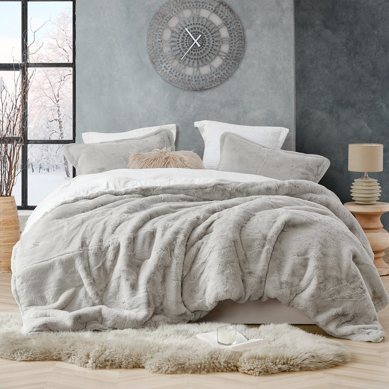 Easy to Match Stone Taupe Coma Inducer Extra Large Twin, Queen, or King Comforter with Matching Shams