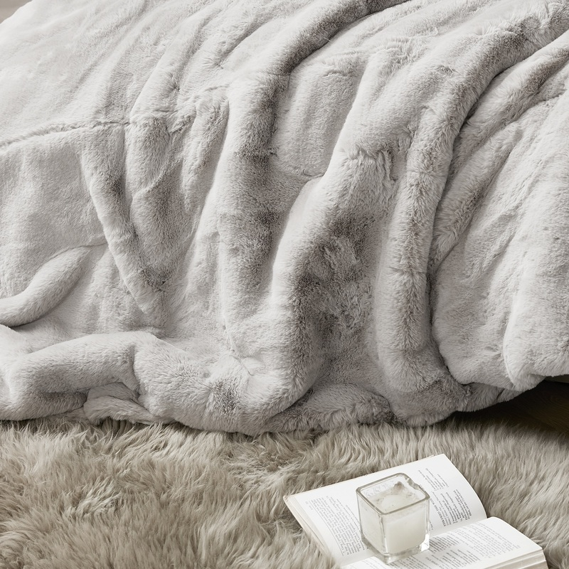 Softest Twin, Queen, or King Comforter Set Super Soft Plush Faux Fur Oversized Blanket