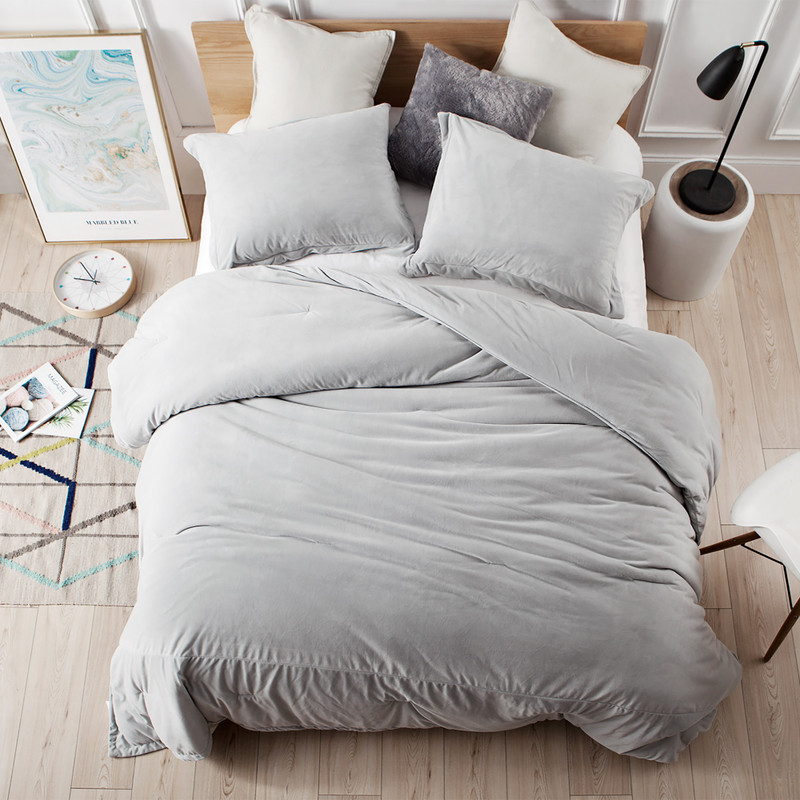 Easy to Match Gray Coma Inducer Bedding Super Soft Twin, Queen, or King Comforter