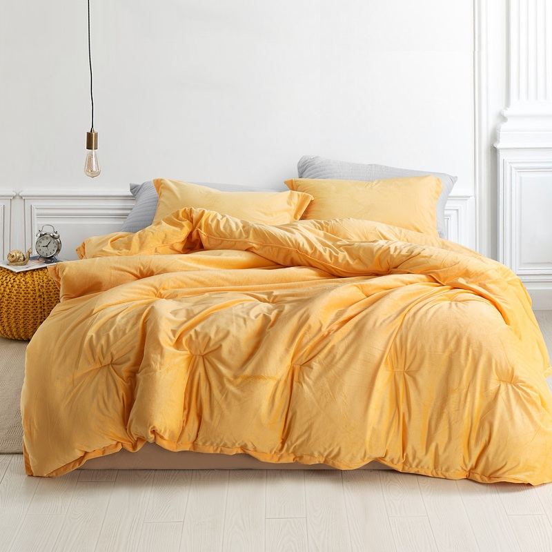 Extra Large Twin, Queen, or King Bedding Coma Inducer Mimosa Orange Comforter Made With Super Soft Plush
