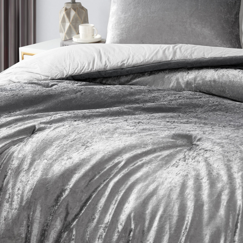 Neutral Gray Twin, Queen, or King Bedding True Oversized Twin, Queen, or King Comforter