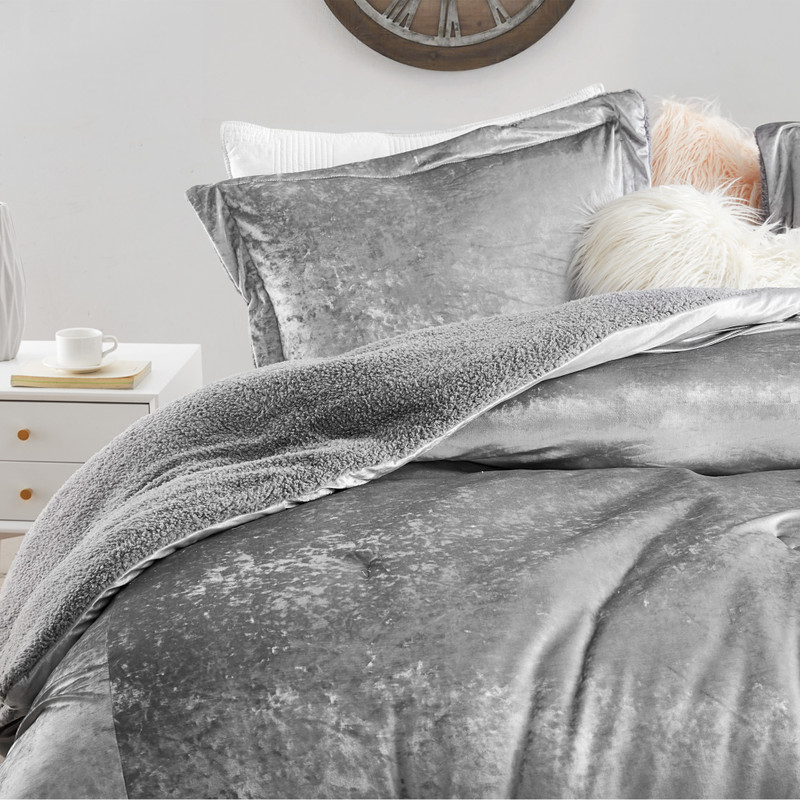 Extra Large Twin, Queen, or King Comforter Alloy Gray Coma Inducer Blanket