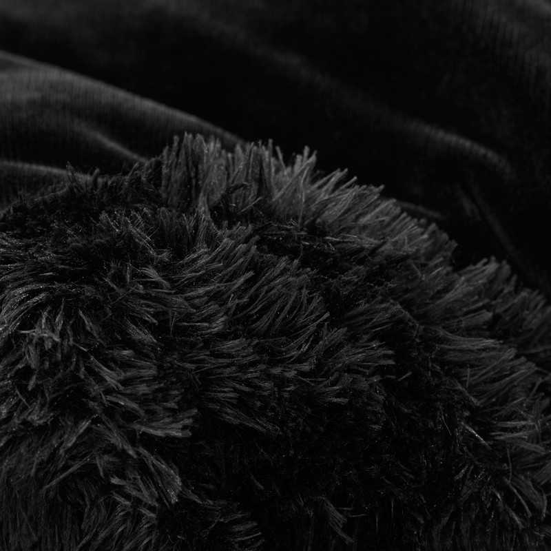 Black Twin, Queen, or King Oversized Comforter Made with High Quality Plush Material