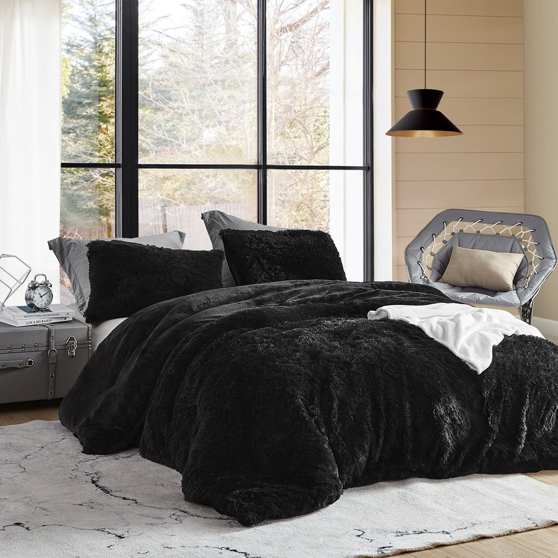 Fluffy XL Twin, XL Queen, or XL King Blanket Black Coma Inducer Twin, Queen, or King Bedding
